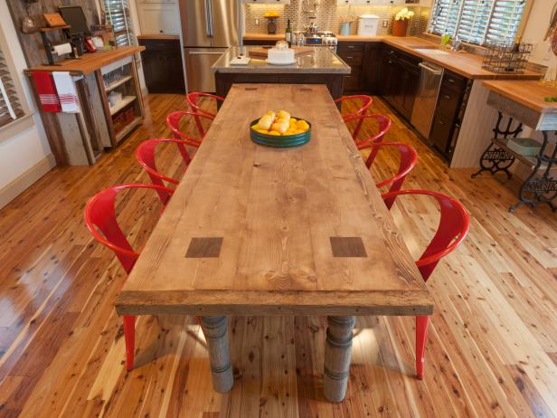 How to Build a Reclaimed Wood Dining Table how tos DIY