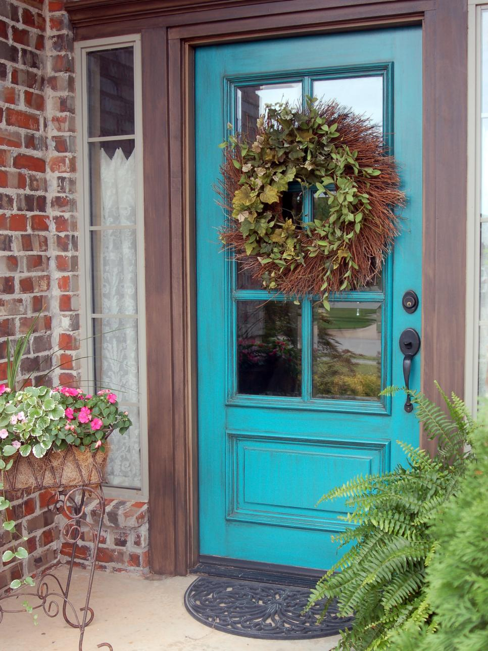 popular colors to paint an entry door diy - Home Design Colors
