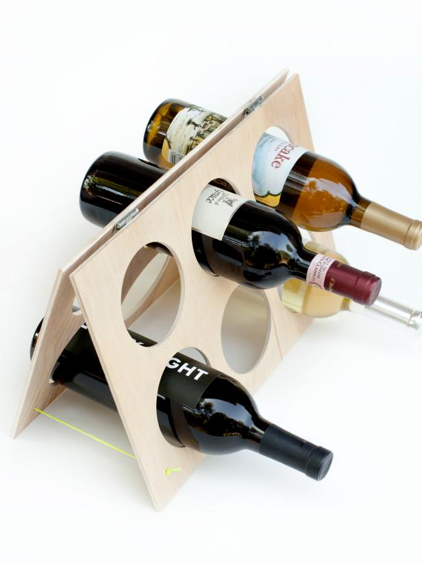 attic cleaning ideas - How to Make an A Frame Wine Rack