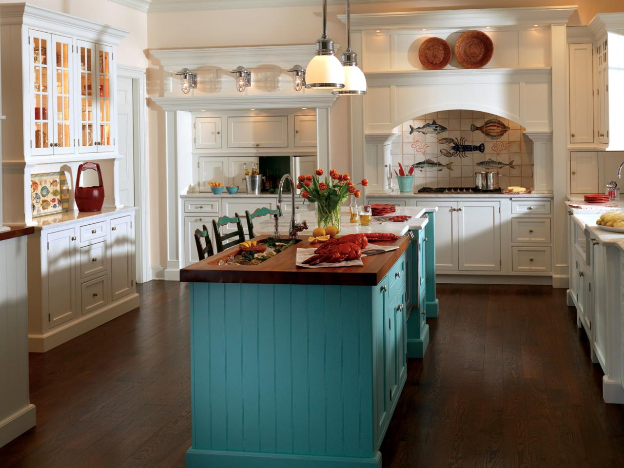 lovely Different Color Cabinets In Kitchen #3: Boost Color With Texture