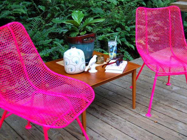 How To Paint Metal Chairs How Tos Diy