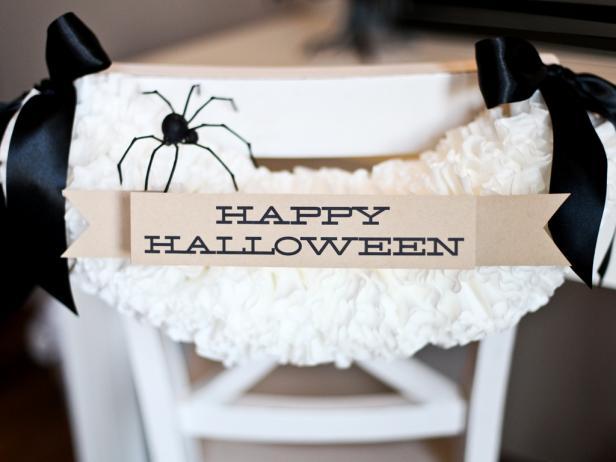 Halloween Chair Garland