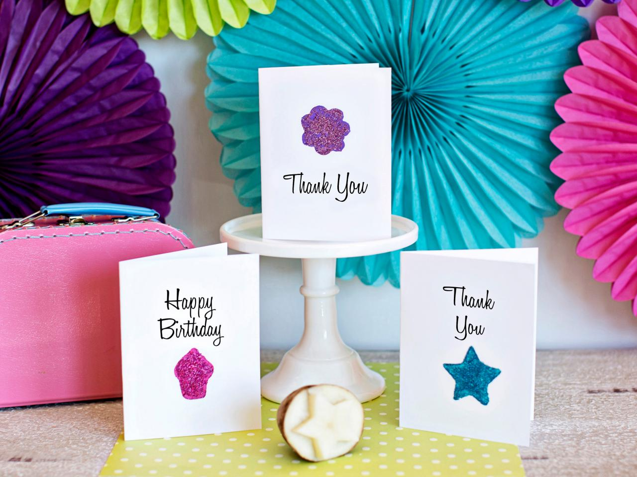 How to Use a Potato to Make Greeting Cards | how-tos