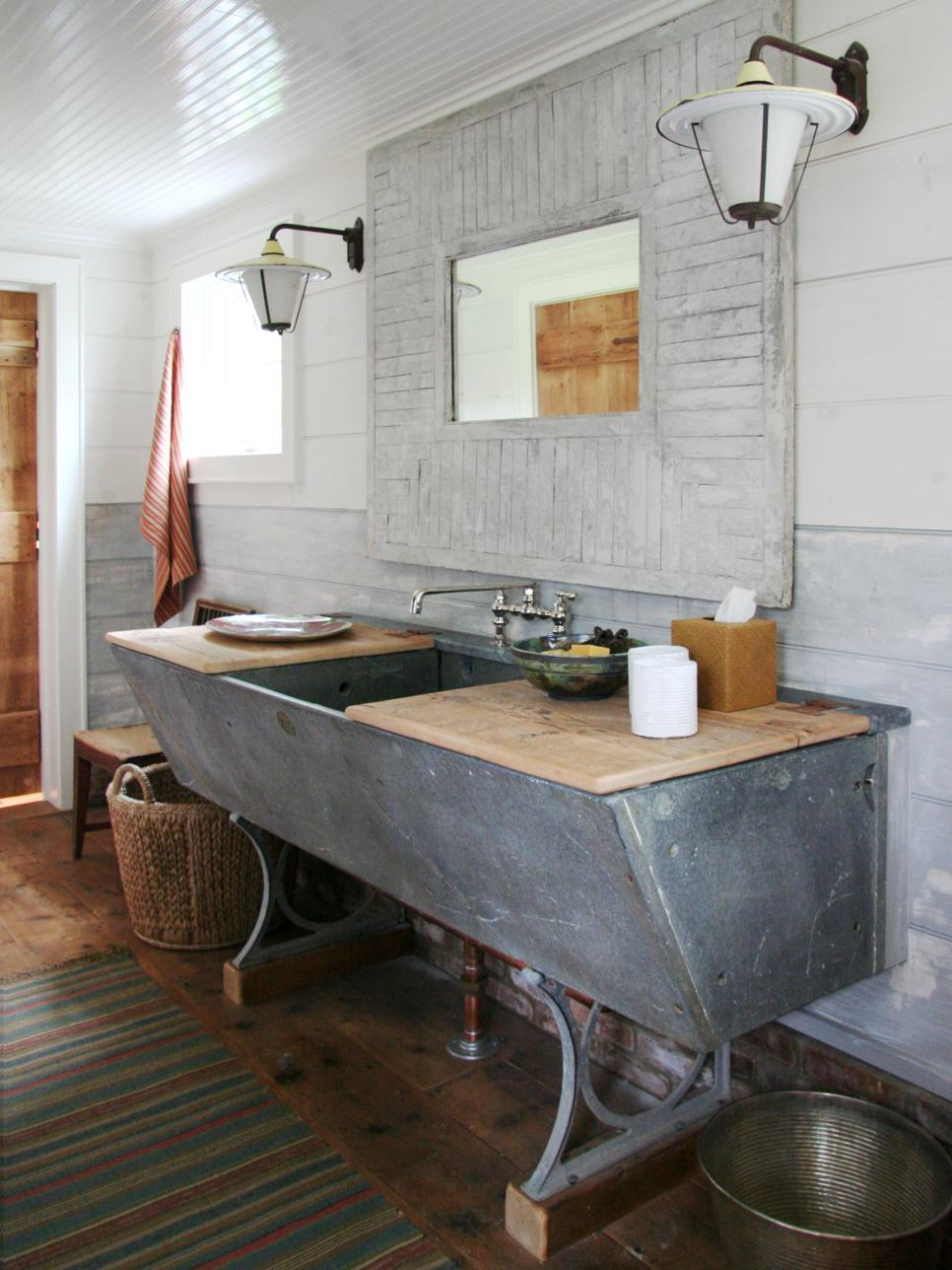 20 repurposed and one of a kind bathroom vanities 20 photos - Bathroom Ideas Mirrors