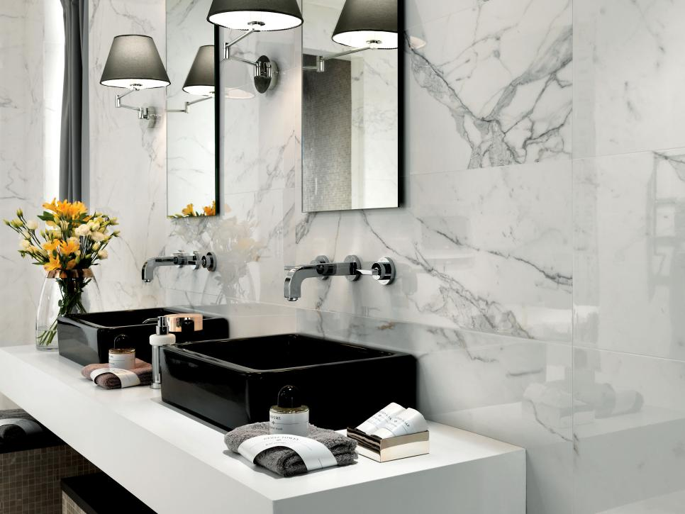 restrained accents - Bathroom Tiles Trends 2013