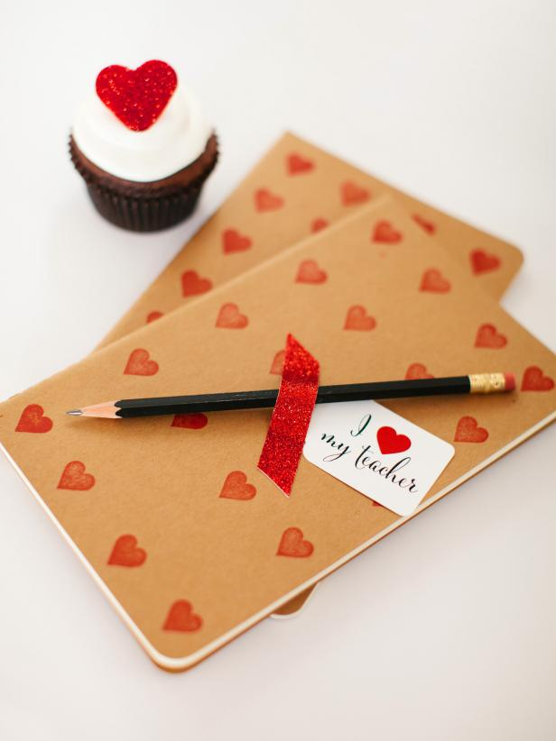 Instructions for Making a Valentines Day Journal for Teachers