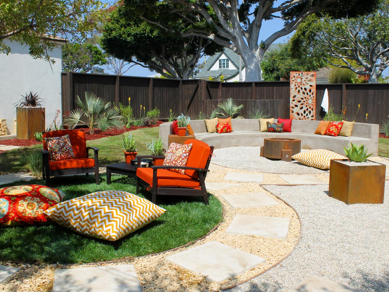 Backyard Fire Pit Designs beautify your backyard with these fire pit design Metal Wall To Reflect The Flames