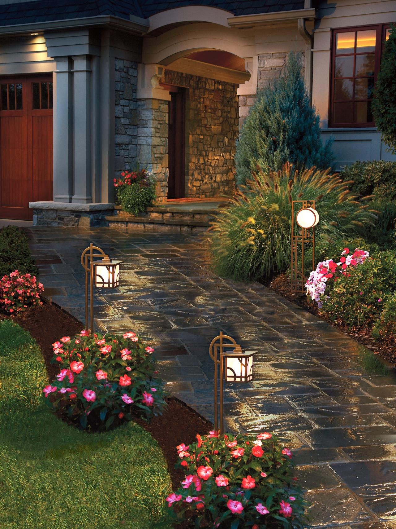 maximum home value landscaping projects  lighting