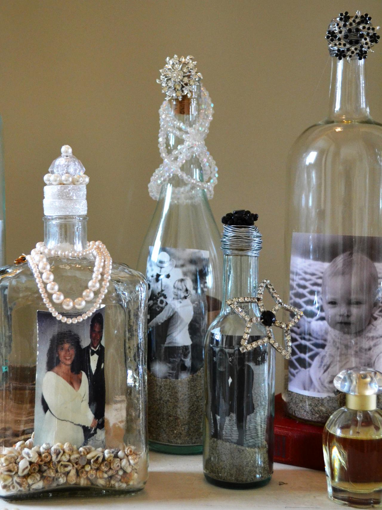 Display photos in upcycled bottles how tos diy for Things made from wine bottles