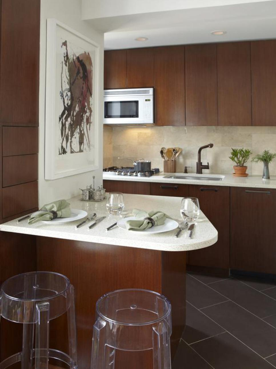from outdated to sophisticated - Kitchen Design Ideas For Small Kitchens