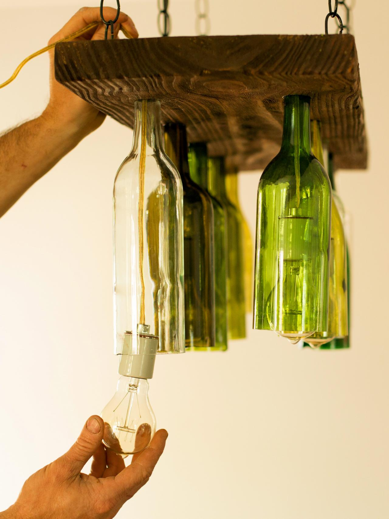 how to make a chandelier from old wine bottles how tos diy