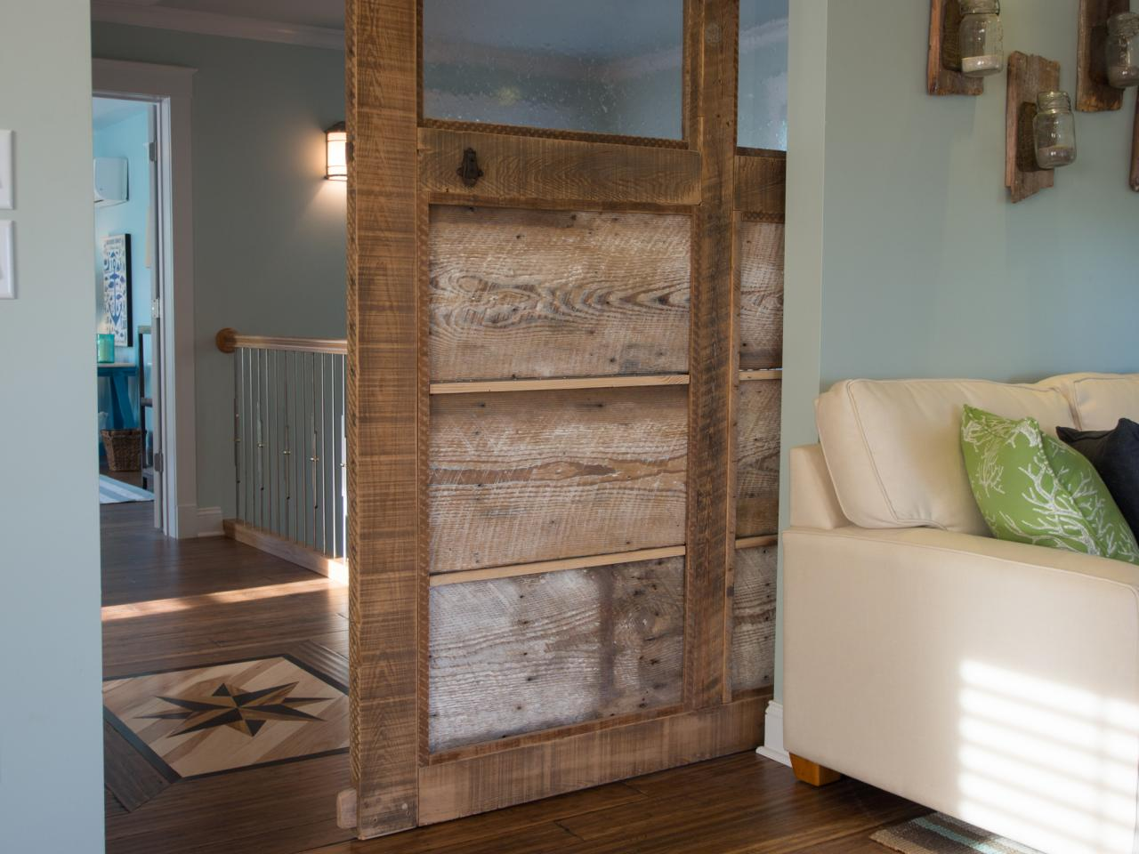 How to build a reclaimed wood sliding door how tos diy for Barnwood pocket door