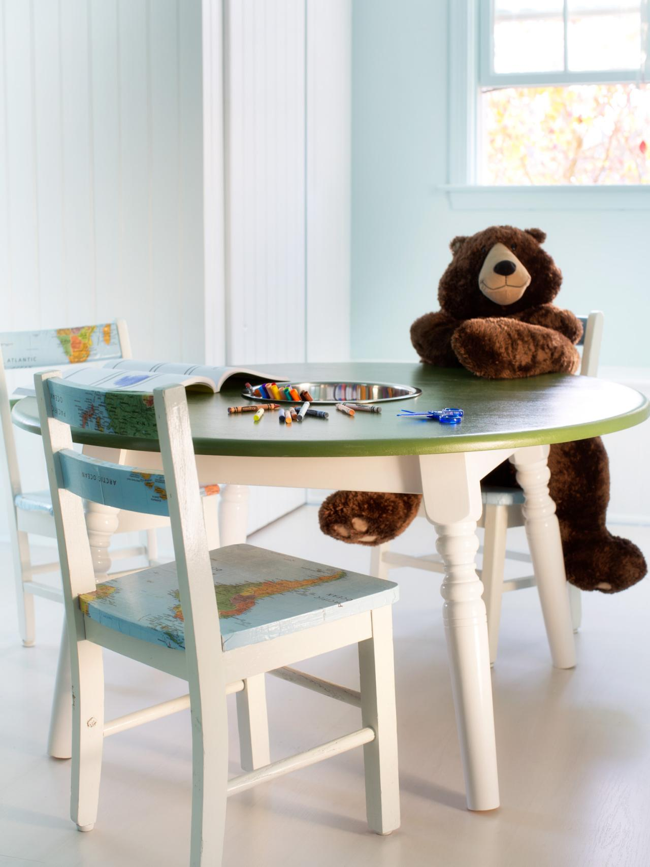 How to Repurpose a Dining Table into a Kids Activity Table