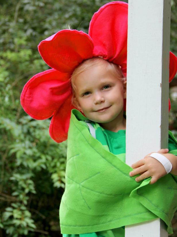 Flower Costume on Girl