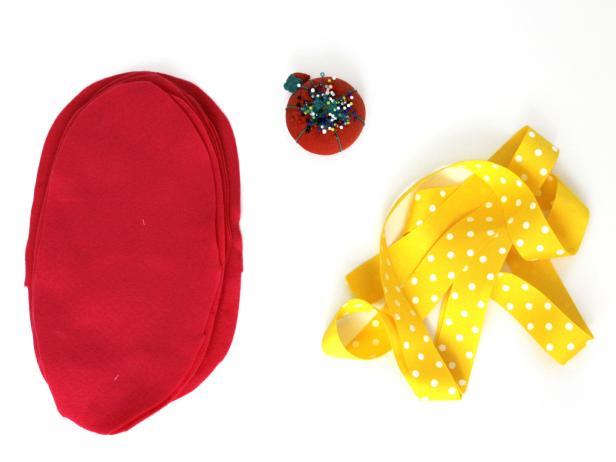Materials for Petal headband