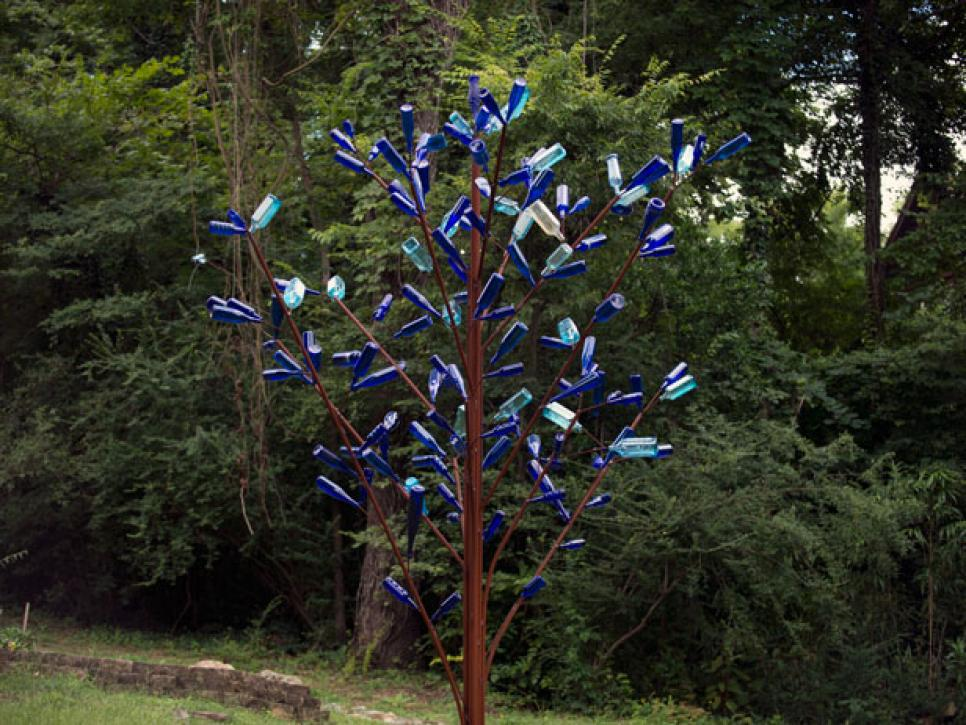 Inspiration for diy bottle trees diy for How to make a wine tree