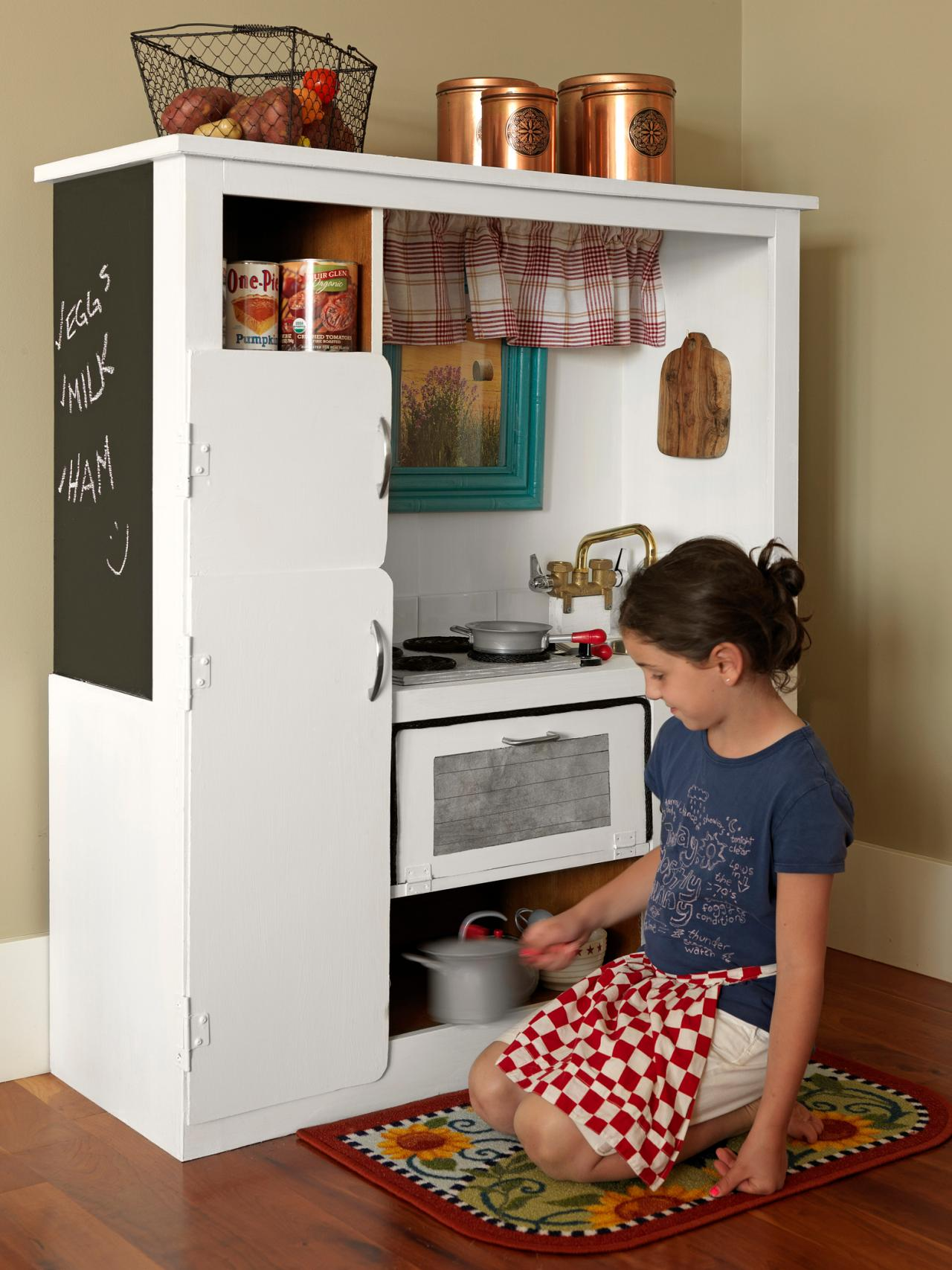 Play Kitchen How To Turn An Old Entertainment Center Into A Play Kitchen How