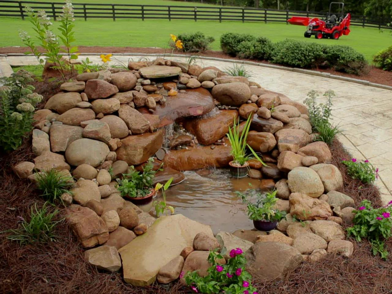 Building a garden pond waterfall how tos diy for Garden with pond
