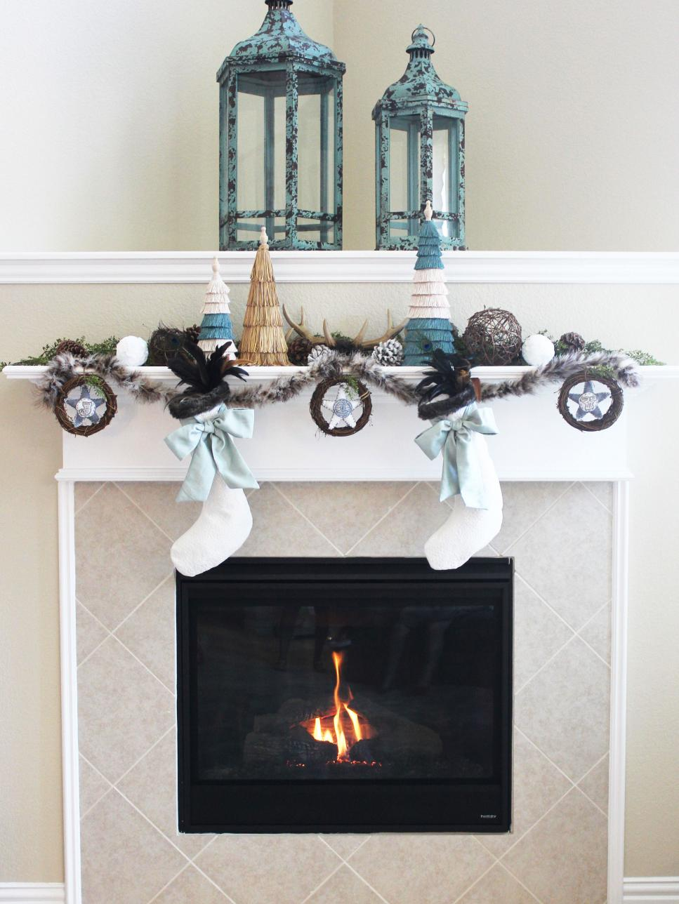 Blogger Challenge Hgtv Holiday House Fireplace Mantel Design Diy