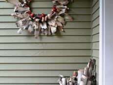 Birch Bark Christmas Wreath with Natural Appeal