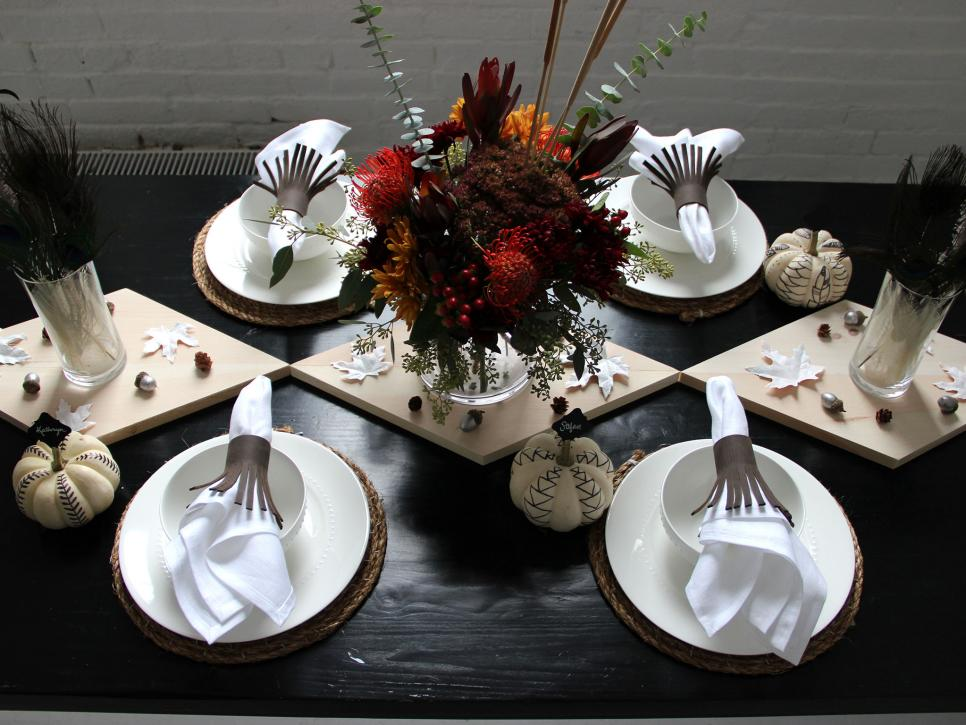 Create a rustic modern thanksgiving table diy Modern fall table decorations