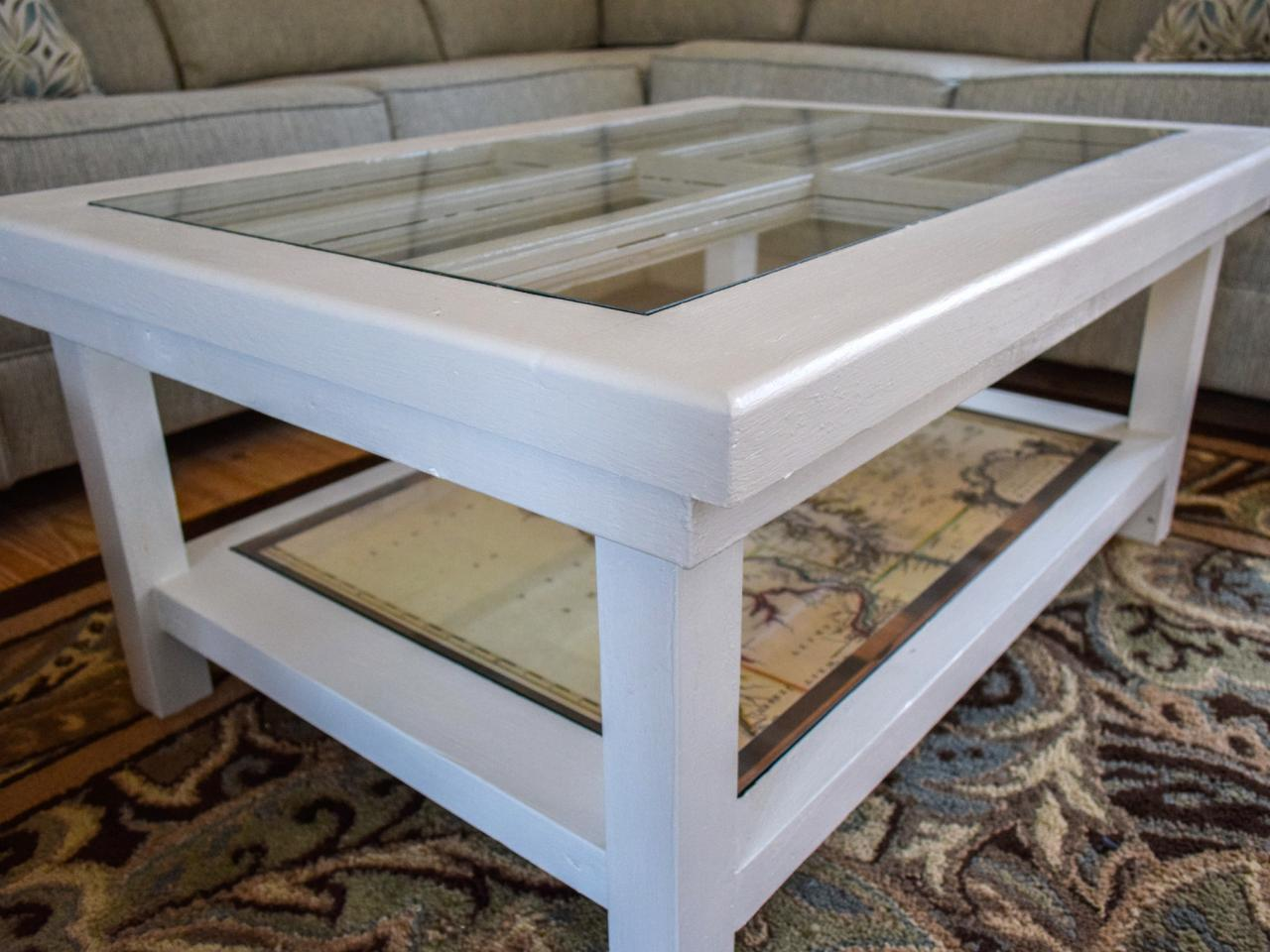 An Upcycled Door Becomes A Glass Top Coffee Table Diy Home Decor And Decorating Ideas Diy