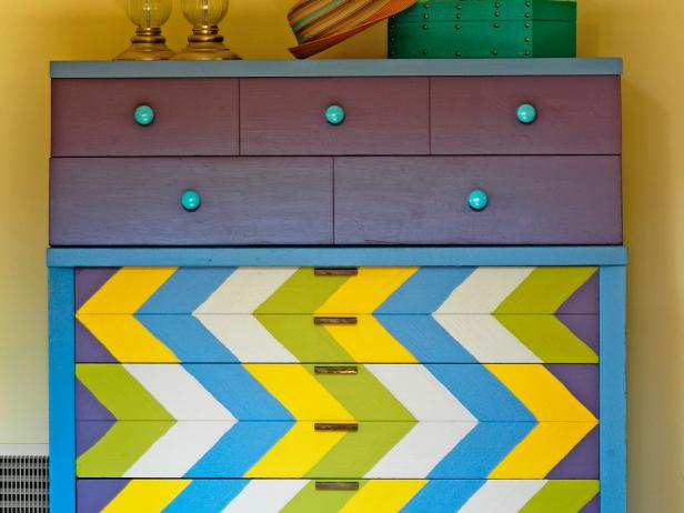 Update a Dresser With a Chevron Design 7 Steps. DIY Bedroom Ideas   Furniture  Headboards   Decorating Ideas   DIY