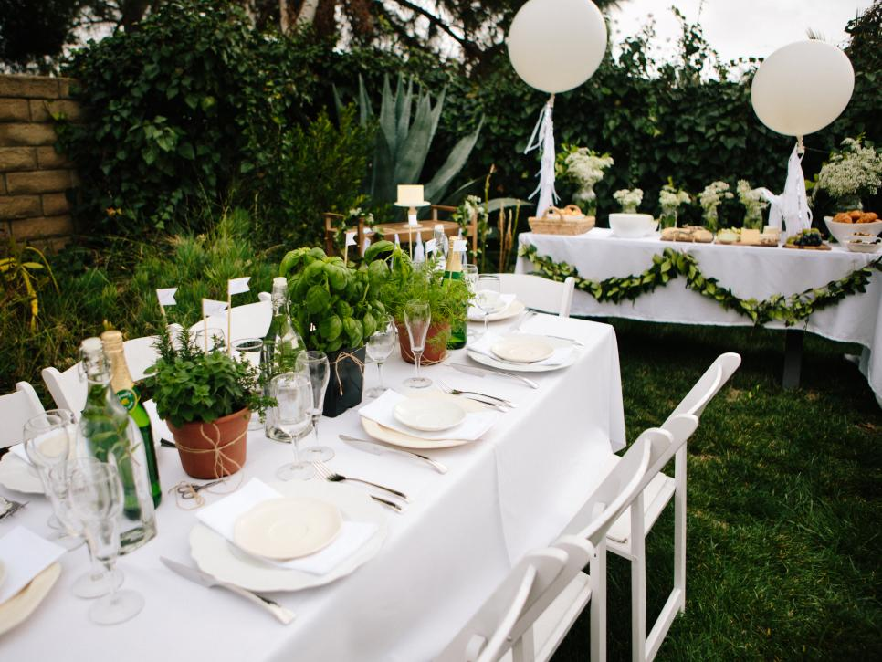 How to plan a french inspired all white baby shower diy for All white party decoration
