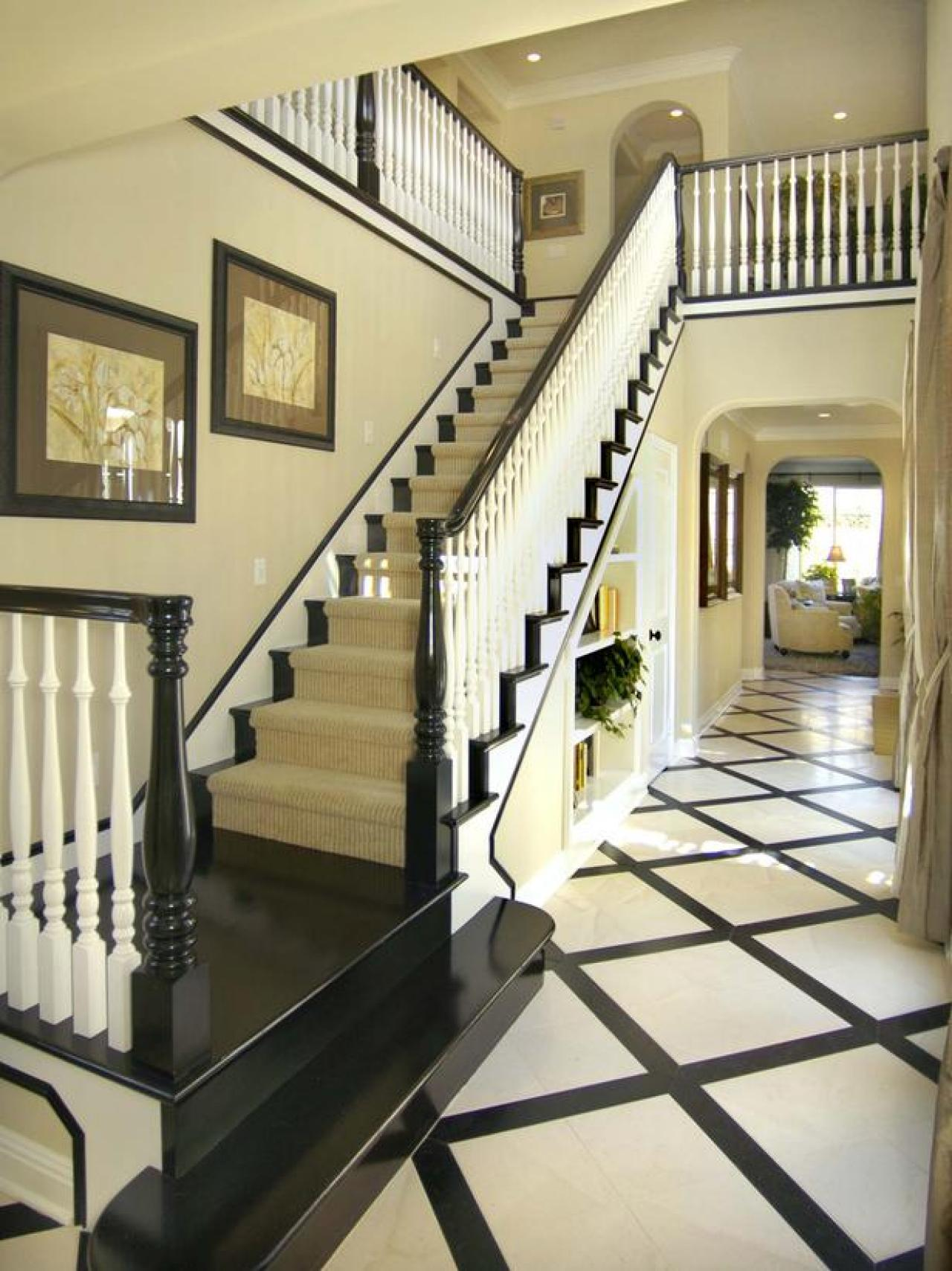 Foyer Stairs Carpet : Ideas for stairs with carpet runners flooring