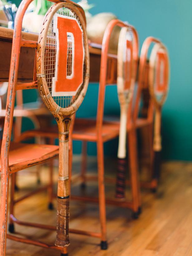 Tennis Racket Chair Swag
