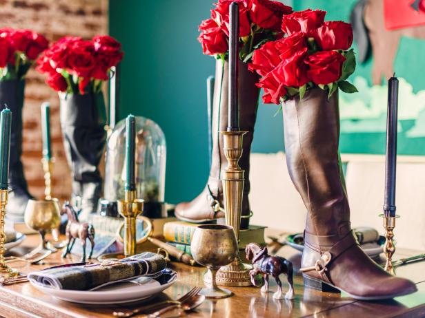 Equestrian Boots are Transformed into a Vase