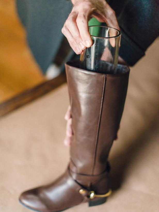 Insert a Vase into the Shaft of the Boot