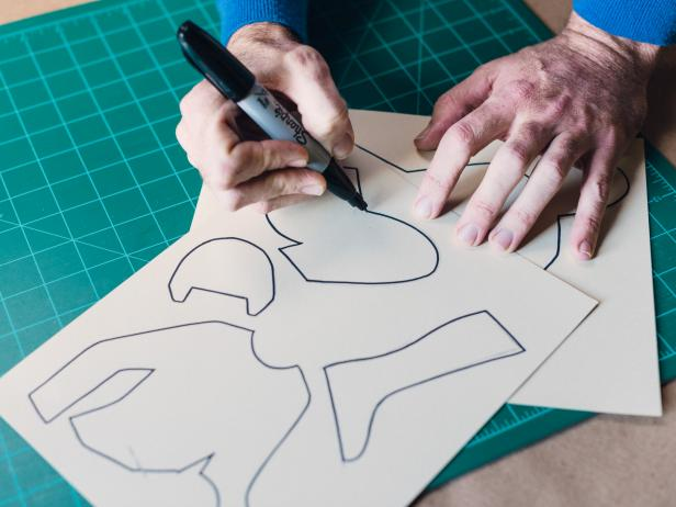 Trace the Stencils to Create the Jockeys