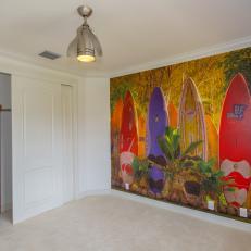 After Photo Bedroom Surfboard Mural