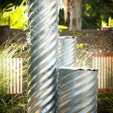 Yard Crashers: Reclaimed Metalwork Water Feature