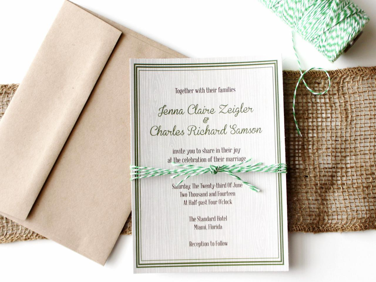 DIY Rustic Wedding Decorations DIY Network Blog Made Remade – How to Make Rustic Wedding Invitations