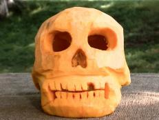 Skull Pumpkin Carving