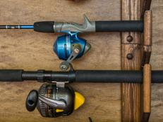 Fishing poles-closeup