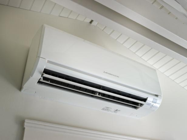 Mitsubishi Ductless Air Conditioner the pros and cons of a ductless heating and cooling system | hgtv