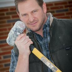 Jason Poses with his Sledgehammer