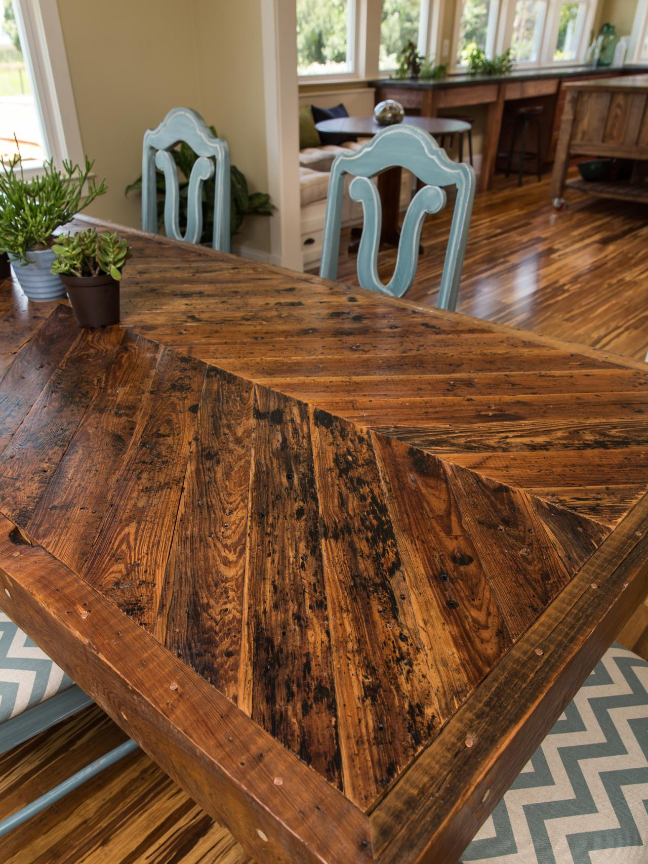 Dining room pictures from blog cabin 2014 diy network for Custom dining room tables