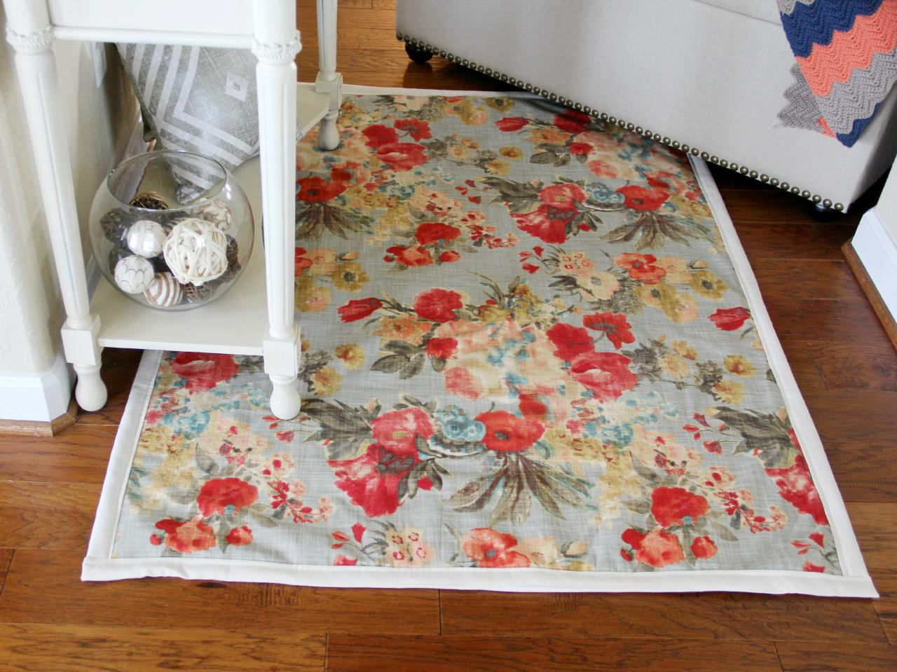 Design Diy Rug how to make a rug from upholstery fabric tos diy step 8