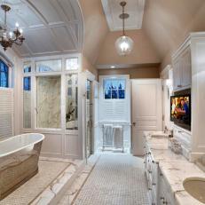 Master Bath with TV Above Vanity