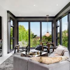 50 Trendy Gray Rooms: Contemporary Family Room