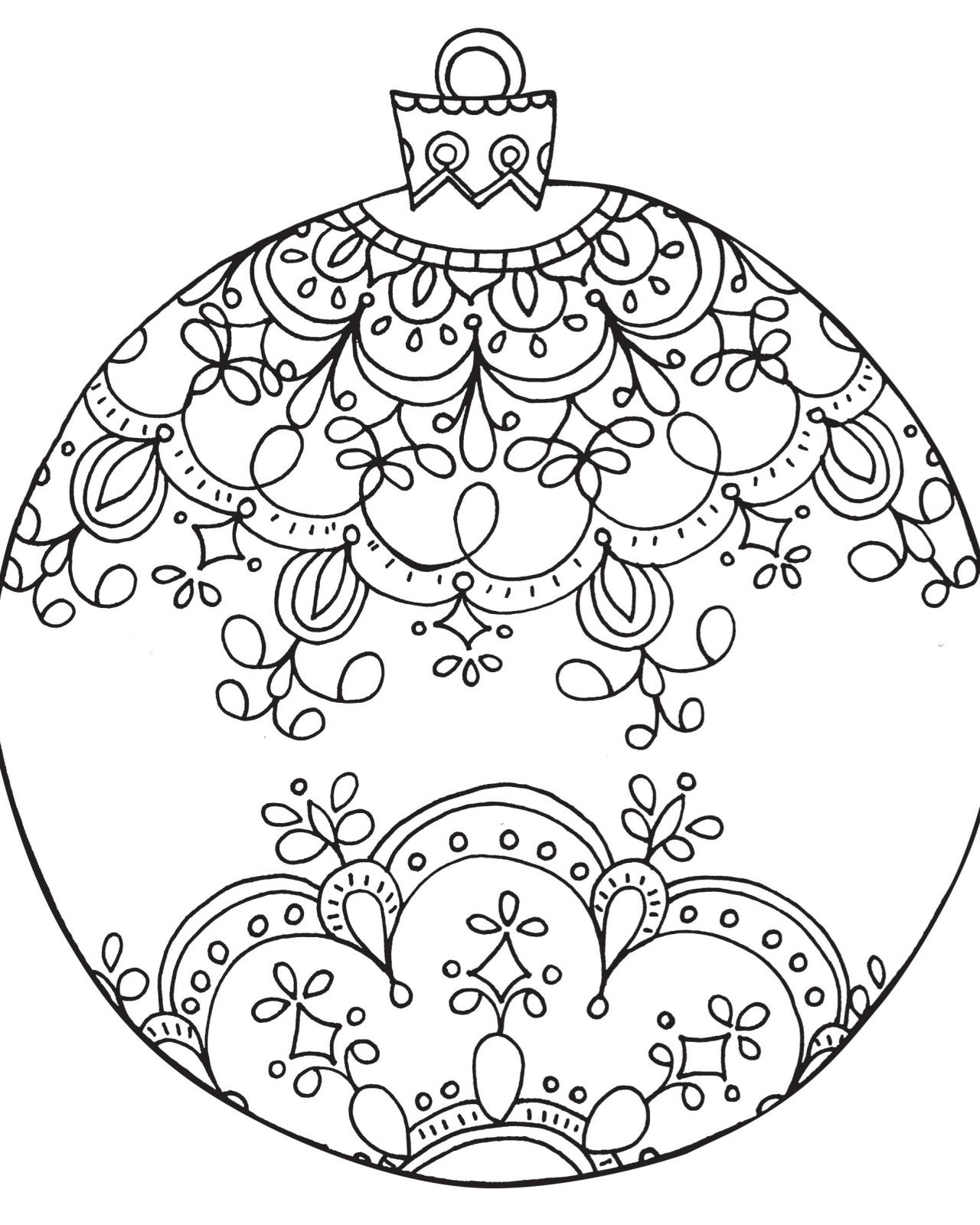 adult coloring pages printable christmas - photo#35