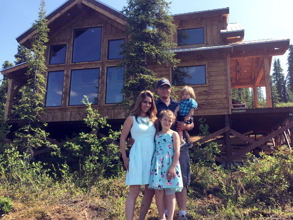 Inside ana white 39 s cabin from building off the grid for Building a house in alaska