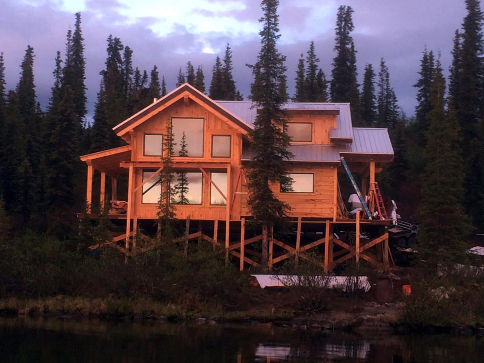 Inside ana white 39 s cabin from building off the grid for Home builders alaska