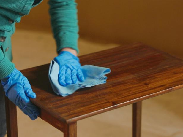 Next use your scraper tool to remove the old finish  Wipe the blade with a  disposable shop cloth between scrapes  You may have to apply stripper and  scrape. How to Strip  Sand and Stain Wood Furniture   how tos   DIY