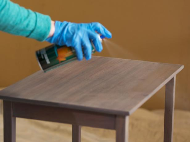 Once Your Last Coat Of Stain Is Totally Dry, Apply An Oil Based Clear Coat  For A Final Layer Of Sheen And Protection. Spray On Clear Coat Is Easy To  Use And ...