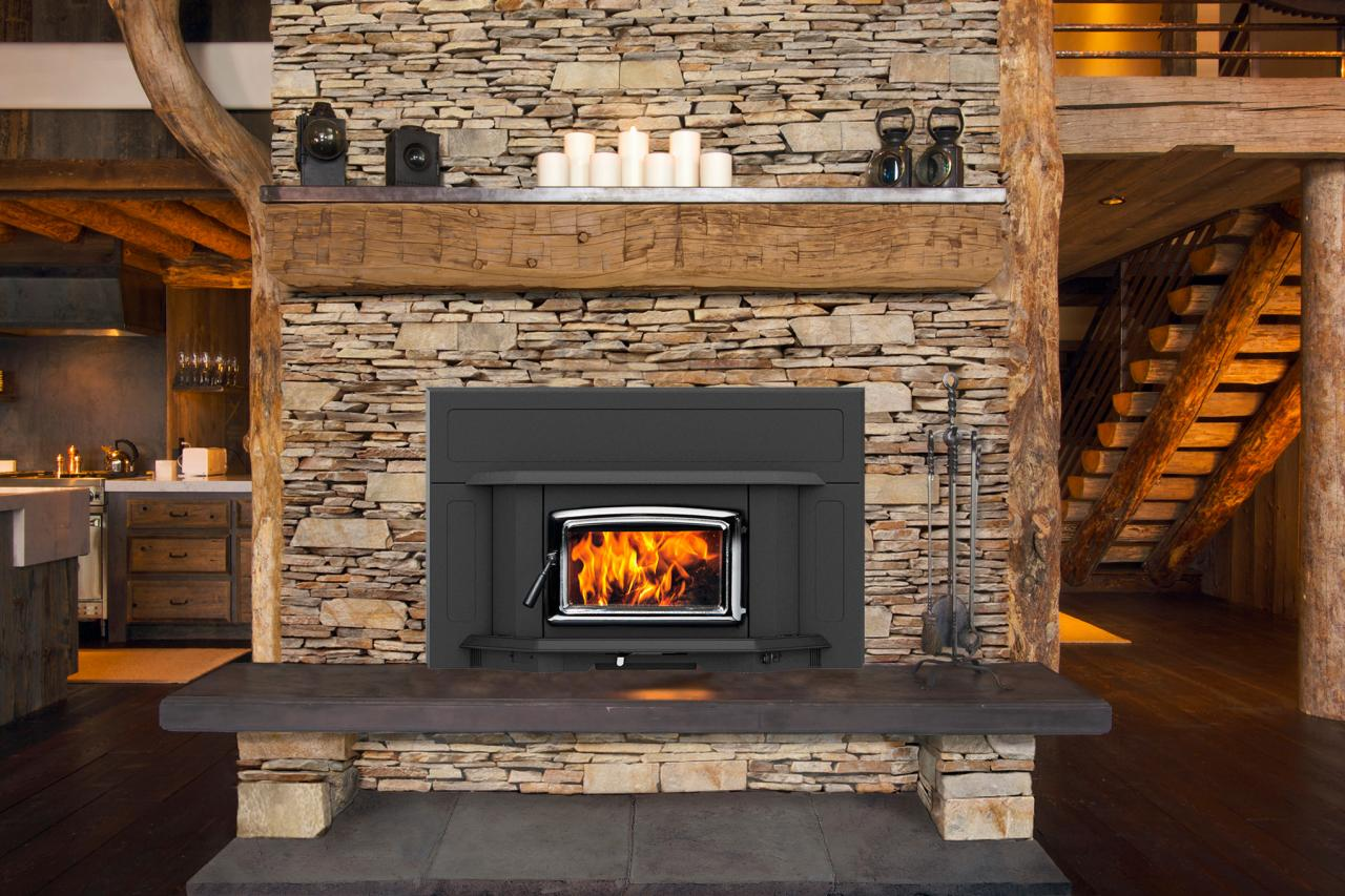 Wood Stove In Fireplace | WB Designs